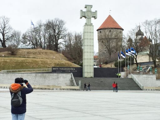 On our way to Tallinn's Old Town, we passed through Freedom Square. The square houses the War of Independence Victory Column, which commemorates those who fell during the Estonian War of Independence of 1918 to 1920.