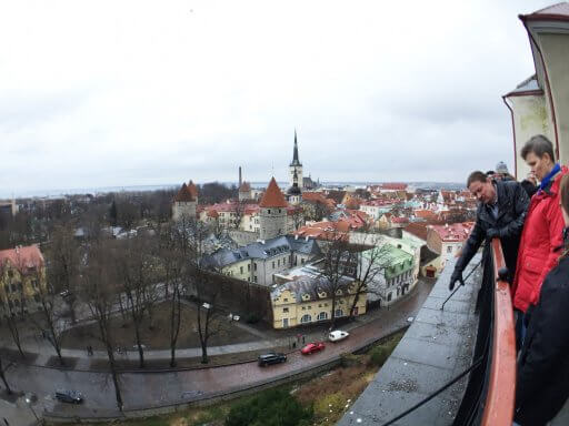 Some of the little side streets in Tallinn Old Town lead to viewing points where you can look out over the city and the views from them are fantastic.