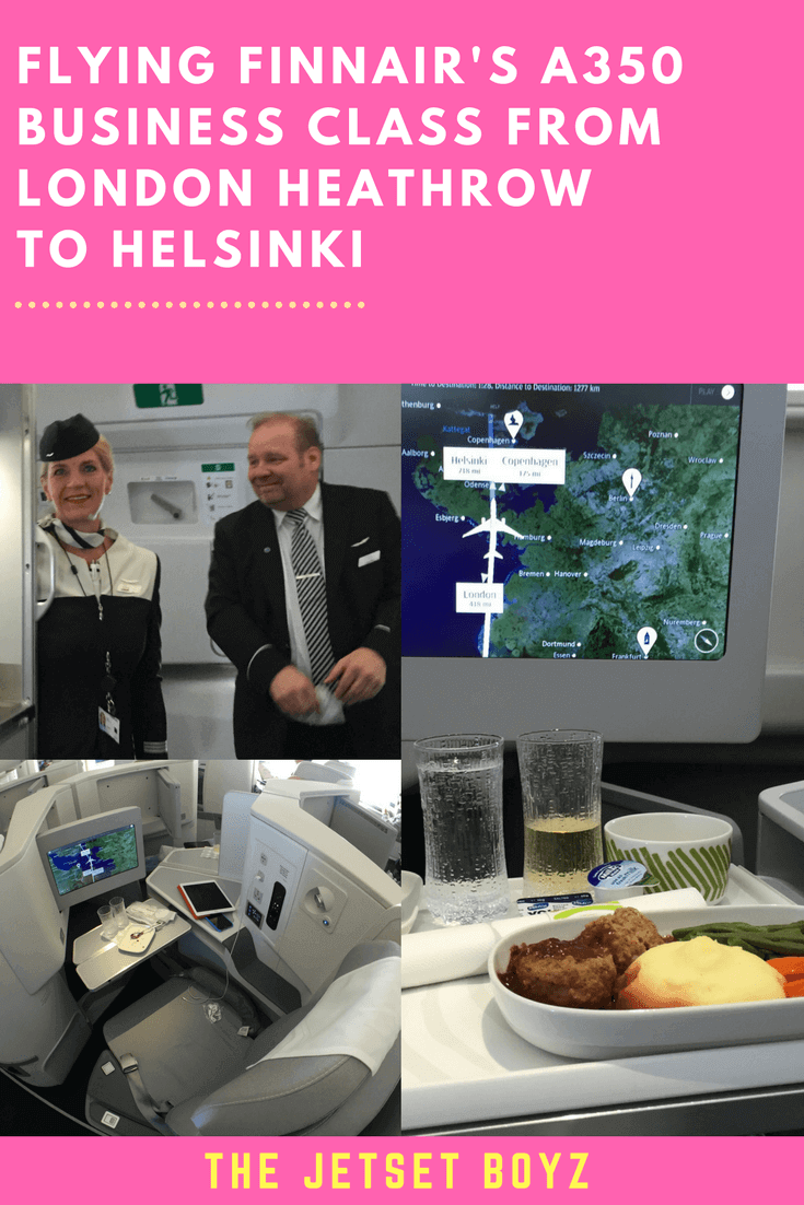 An exciting brief encounter with Airbus' latest baby flying Finnair A350 Business Class from London Heathrow to Helsinki