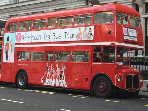 All aboard a British icon for B Bakery Afternoon Tea Bus Tour