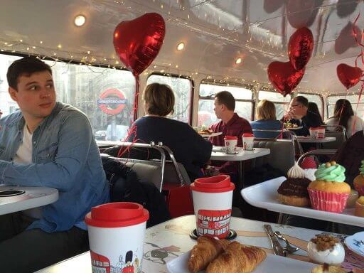 B Bakery Afternoon Tea Bus Tour was all decked out for Valentine's Day