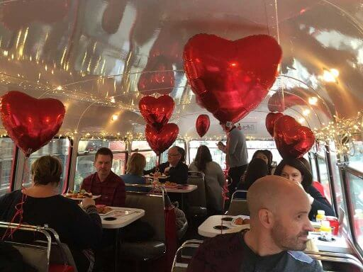 Love was in the air for Valentine's Day on B Bakery Afternoon Tea Bus Tour