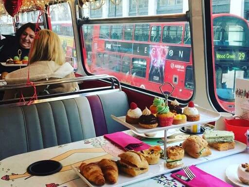 The yummy spread of goodies on B Bakery Afternoon Tea Bus Tour