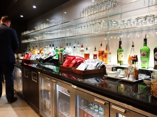 The bar was well stocked. Spirits included Bombay Sapphire and Gordon's gins, Grey Goose and Smirnoff vodkas and various whiskies, aperitifs, liqueurs and brandies.