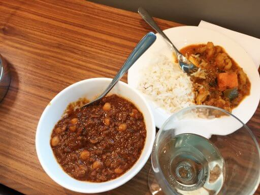 Bart tried the Moroccan beef and I decided to give the vegetable curry a try. We both really enjoyed our choice of food.