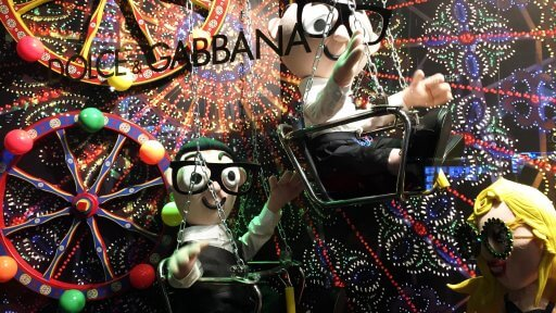 Dolce & Gabbana have brought the best of the festive Italian spirit to London in their own way. The Harrods windows have big curtains like a theatre where inside you can enjoy their lifes, their passions and their love for fashion & life.