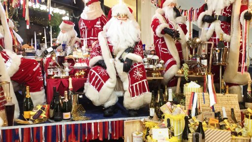 Selfridges' Oxford Street windows are a blast of colour and style. The Pearly Kings inspired Santa's party in the corner window is a fun-filled monument to hedonism.