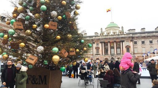 Somerset House is another regular on the winter skate scene. You can glide around in the beautiful courtyard, surrounded by neoclassical architecture. There's a rink-side refreshment lodge, serving a range of drinks, where you can chill out after your skate session.