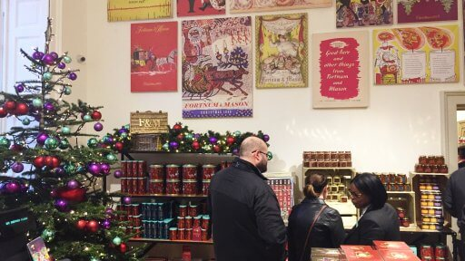This year, at Somerset House there's a Christmas pop-up shop from Fortnum and Mason, which features some of the fabulous foods and decadent drink.