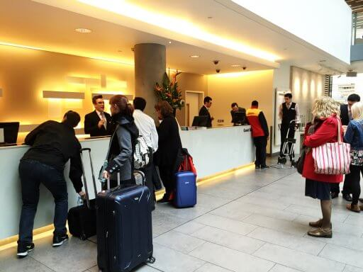 When we arrived, the reception was busy. Fortunately, the reception staff at the Doubletree Tower Hill are usually very efficient and we only had to wait about two minutes.