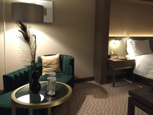 The Executive rooms have a comfortable chaise lounge at the Hilton Vienna Plaza