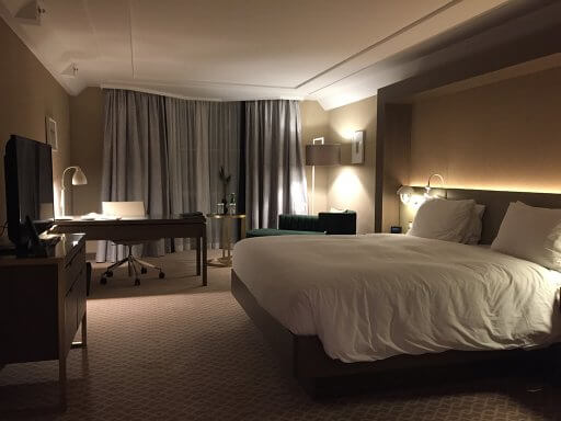 Our Executive Plaza room at the Hilton Vienna Plaza