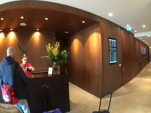 Checking in at the Cathay Pacific lounge at LHR before our Finnair A350 Business Class flight to Helsinki