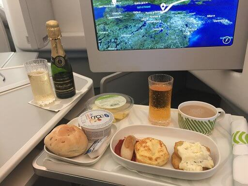 It would have beeen rude not to indulge in champers with breakfast on the return Finnair A350 Business Class flight to Heathrow