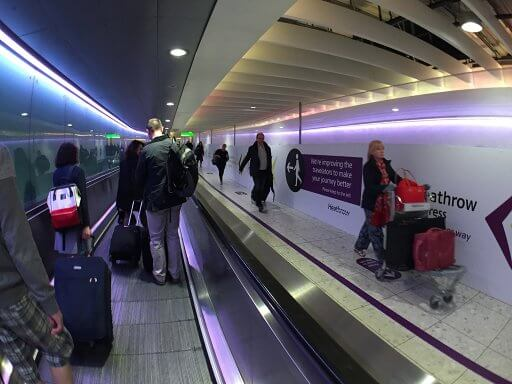 We noticed they are upgrading the Terminal 3 Travelators as we headed to get our Finnair A350 Business Class flight to Helsinki
