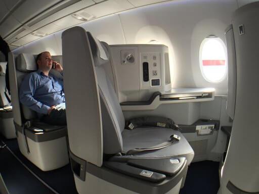 The Finnair A350 Business Class seat