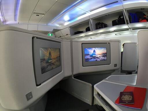 "The Finnair A350 Business Class seats have 16"" HD touchscreens"