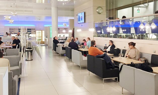Finnair Non-Schengen Lounge: Cool, contemporary Finnish design and a steaming hot sauna