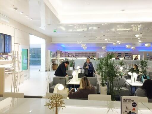 The Finnair Non-Schengen Lounge at Helsinki Airport offers a number of different seating areas