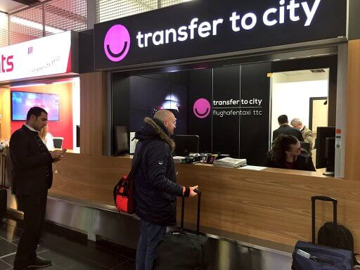 A taxi transfer from Vienna Airport to the city centre is a fixed price, you can book your return journey at the same time for a 10% discount.