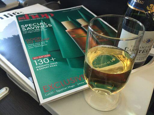 Champers in Club Europe on BA700 from London Heathrow to Vienna