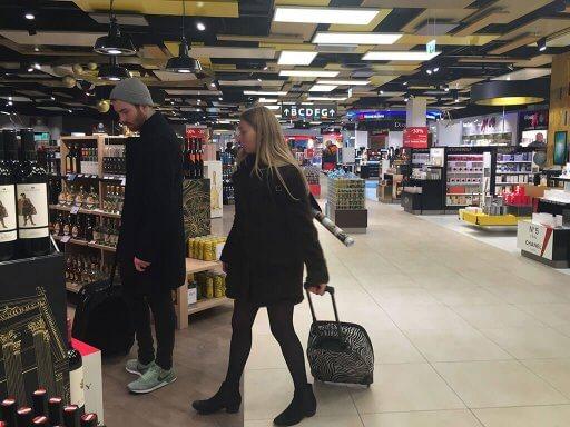 Duty free shop at Vienna Airport