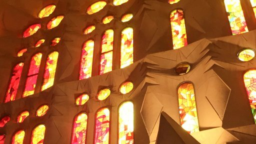 """We find it quite hard to come up with words to convey my feelings on walking into the main body of the Sagrada Família. It's actually a little overwhelming but definitely a """"wow"""" moment."""