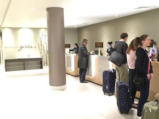 A friendly welcome at reception in Hilton Garden Inn London Heathrow Airport