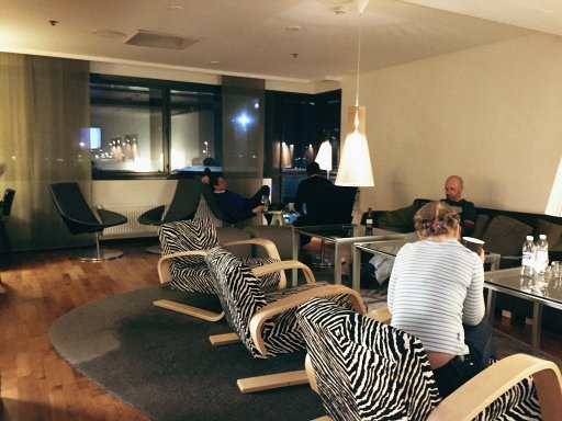 The Executive Lounge at the Hilton Helsinki Airport is on the 5th floor. Access to the lounge is available to guests who are staying in Executive Rooms and the suites. The lounge isn't massive but has a nice mix of sofas and tables.