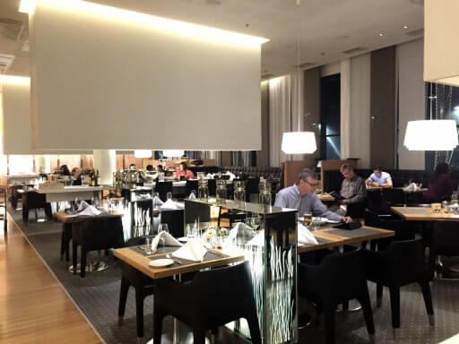 "There are two main options for eating in the hotel at Hilton Helsinki Airport – in-room dining or Restaurant Gui. The bar also offers a few snacks, which are basically the same as the ""casual food"" list on the Gui menu. We decided to have dinner in Restaurant Gui."