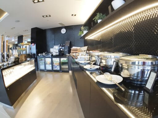 The Executive Lounge at Hilton Tallinn Park offers a good breakfast selection of both hot and cold options.