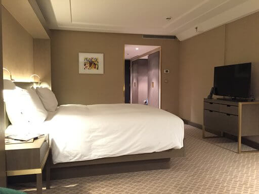 The Executive rooms have large flat screen TVs and original works of art at the Hilton Vienna Plaza