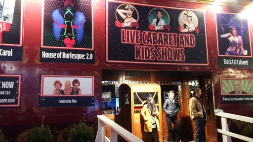 Christmas in Leicester Square's vintage Spiegeltent – a velvety, wooden venue home to a stocked programme of Christmas shows brought to you from the Underbelly team. Events include performances from Fascinating Aida, Cabaret at Christmas, Al Murray, The Showtoppers Christmas a Christmas Baby Disco Dance Hall for the under fives and Roald Dahl;s Marvellous Medicine show.