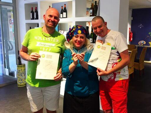 We left clutching our certificates and a deep sense of satisfaction that we'd produced a great paella!