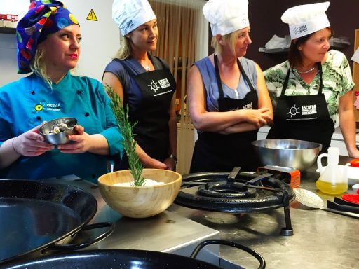 We stood at our workstation as Chef Sonja ran through the ingredients with us in very rapid Spanish. Fortunately for most of the group, Maria was on hand to translate.