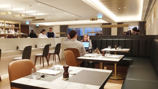 Qantas has its mandatory 'Rockpool dining experience' at the London lounge, which centres on the ground floor dining room's à la carte menu with table service, which is offered during select hours.