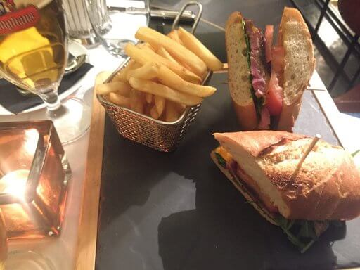 The delicious steak sandwich in Brasserie and Bar Émile at the Hilton Vienna Plaza