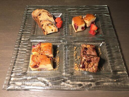 Our tasty sweet treats were a nice geature from the Hilton Vienna Plaza