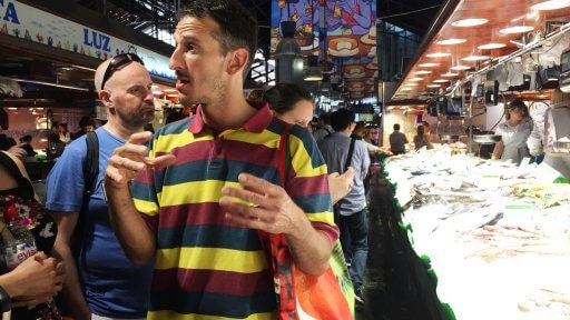 As we went around La Boqueria our guide explained about the different products.
